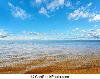 mare, o, oceano, orizzonte
