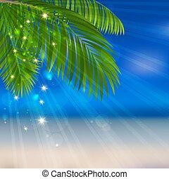 mare, sabbia, palma