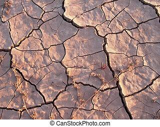 marga, tierra, detalle, seco