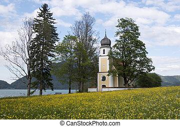 Margarethen church at Walchensee, Bavaria