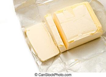 margarina, aislado, en, el, fondo blanco