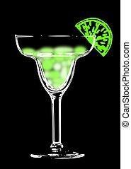 Margarita - A creative illustration of a margarita on a...