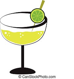 Margarita alcohol drink with lime