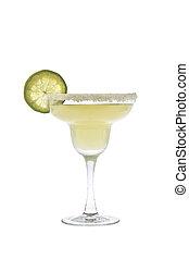 margarita, cocktail, auf, a, weißer hintergrund