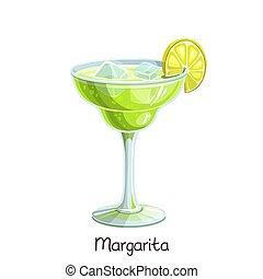 margarita, cocktail, calce