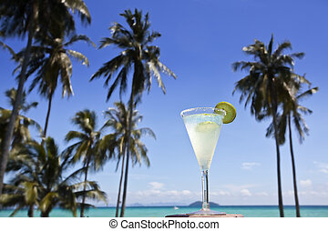 Margarita cocktail. - Margarita cocktail with a swimming...