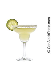 Margarita cocktail on a white background - Margarita mixed...