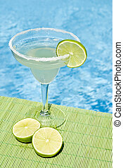 Margarita Drink by the Pool