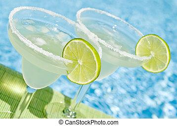 Margarita Drinks by the Pool