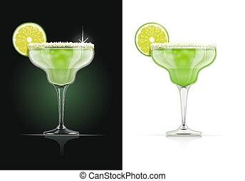 Margarita glass. Alcohol cocktail.