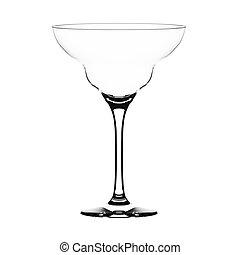 Margarita glass - Empty margarita glass isolated on white.