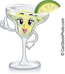 Margarita Mascot - Mascot Illustration Featuring a Glass of...