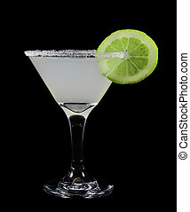 Margarita with a slice of lime fruit
