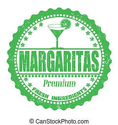 Margaritas stamp - Margaritas grunge rubber stamp on white,...