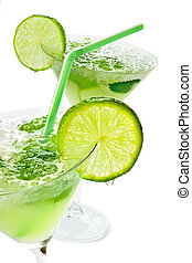 Margaritas with lime - Close up margaritas with lime