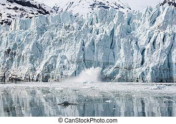 margerie, glaciär, jökel vik medborgare parkera, alaska