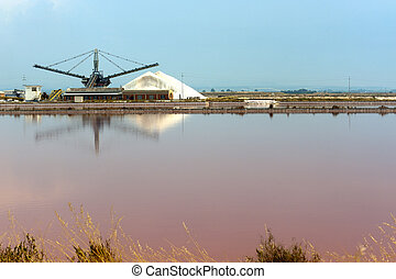 Margherita di Savoia (Puglia, Italy): Salt evaporation pond