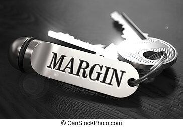 Margin Concept. Keys with Keyring.