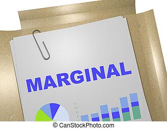 Marginal - business concept