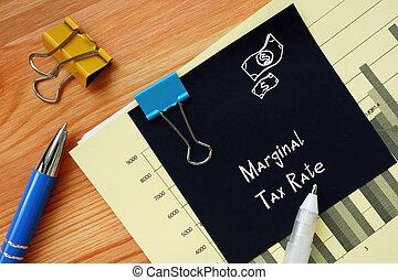 marginal, financier, impôt, sheet., concept, inscription, ...