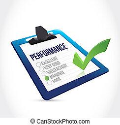 marginal, liste contrôle, presse-papiers, performance