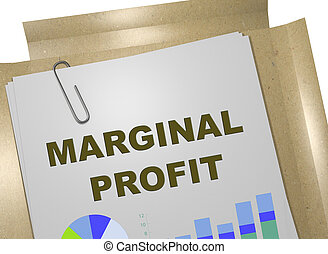 MARGINAL PROFIT concept - 3D illustration of MARGINAL PROFIT...