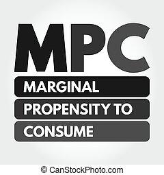 marginal, propensión, consumir, siglas, -, mpc