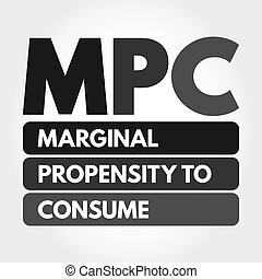 marginal, propension, consommer, acronyme, -, mpc