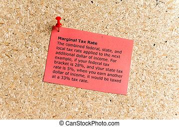 marginal, taux, impôt
