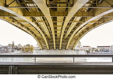 Margit bridge in the city center of Budapest