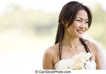 mariée, 3, extérieur