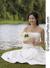 mariée, asiatique, 7