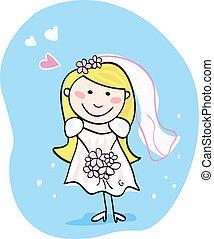 mariée, blanc