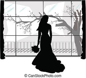 mariée, délaissé