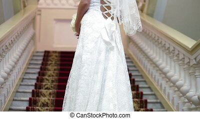 mariée, escalier