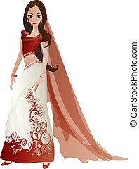 mariée, indien