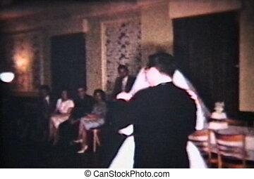 mariée marié, premier, danse, (1960)