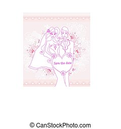 mariée, mariage, palefrenier, invitation