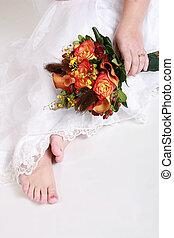 mariée, orteils