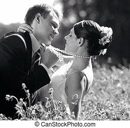 mariée, palefrenier, amour