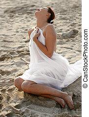mariée, plage