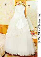 mariée, robe blanche, mariage