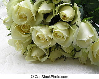 mariée, roses