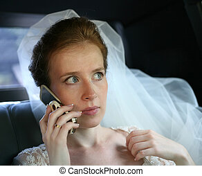 mariée, téléphone