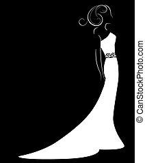 mariée, vecteur