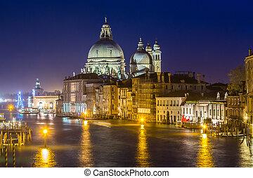 maria, della, di, italia, basílica, santa, vista, saludo, venecia