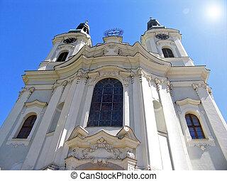 Maria Magdalena catholic church in Karlovy Vary, Czech Republic