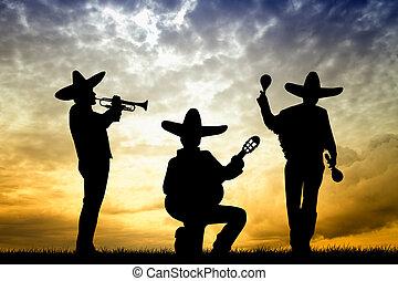 mariachi, ∥において∥, 日没