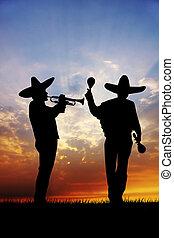 mariachi at sunset