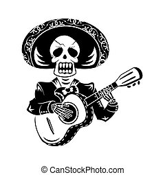 Mariachi guitar player for Day of the Dead